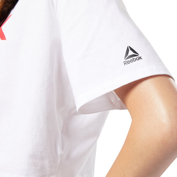 Camiseta Linear Logo Crop Tee