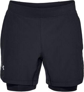 Under Armour Pantalones cortos  Qlifier Speedpocket 2-en-1 hombre Negro