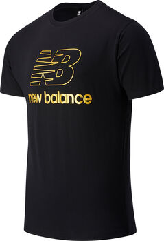 New Balance Camiseta de manga corta Athletics Podium hombre Negro