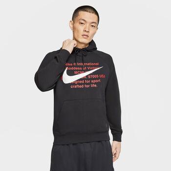 Nike Sudadera Sportswear Swoosh Men's F hombre Negro