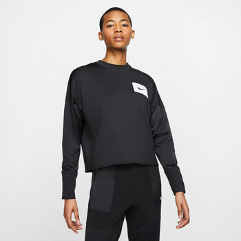 Nike Camiseta m/l W NK MIDLAYER CREW REBEL mujer