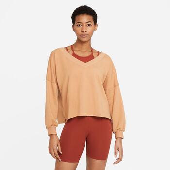 Nike Sudadera Yoga Off-Mat Fleece V-Neck mujer