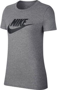 Nike Camiseta Manga Corta Essential Icon Futura mujer Gris
