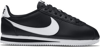 Nike Classic Cortez Leather Mujer Negro