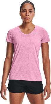 Under Armour Camiseta m/c Tech SSV - Twist mujer Rosa