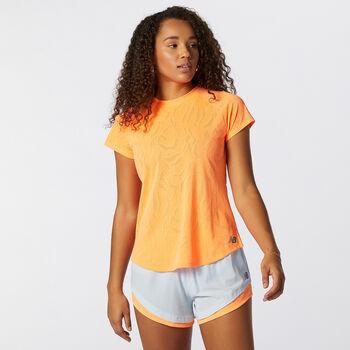 New Balance Camiseta manga corta Speed Fuel Jacquard mujer Naranja