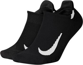 Nike Calcetines Cortos Running Multiplier (2 Pares) Negro