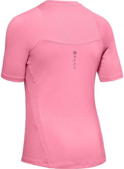 Camiseta de manga corta UA RUSH para mujer