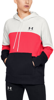 Under Armour Sudadera con capucha UA Rival Fleece Color Block para mujer Beige