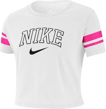 Nike  Sportswear Cropped Camiseta Manga Corta de  niña Blanco