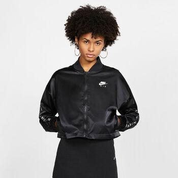 Nike ChaquetaNSW AIR TRK JKT SATIN mujer Negro