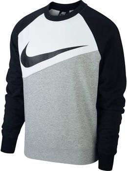 Nike Camiseta m/lNSW SWOOSH CREW FT hombre Negro